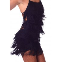 Fringe Dress Zwart